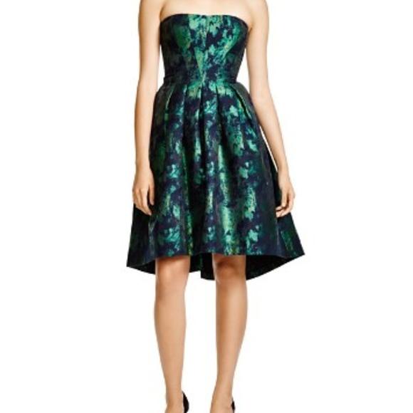 Vera Wang Dresses & Skirts - Vera Wang Strapless Jacquard Cocktail Dress - Wm 8